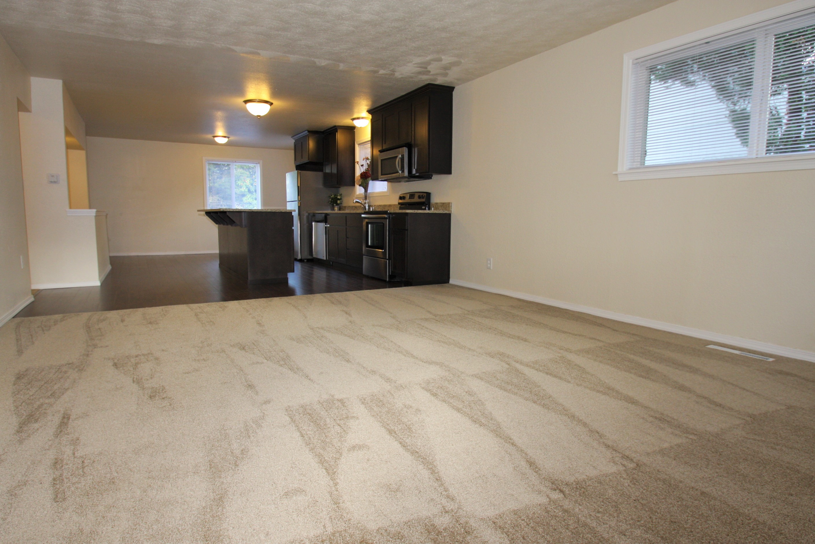 Engineered Hardwood Basement Part - 39: Easy To Maintain Engineered Hardwood Floors Are Thoughout The Kitchen And  Fresh Interior Paint, All You Need To Do Is Move In And Enjoy!